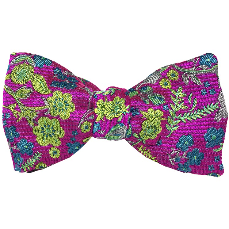 Pink Ophelia Floral Bowtie