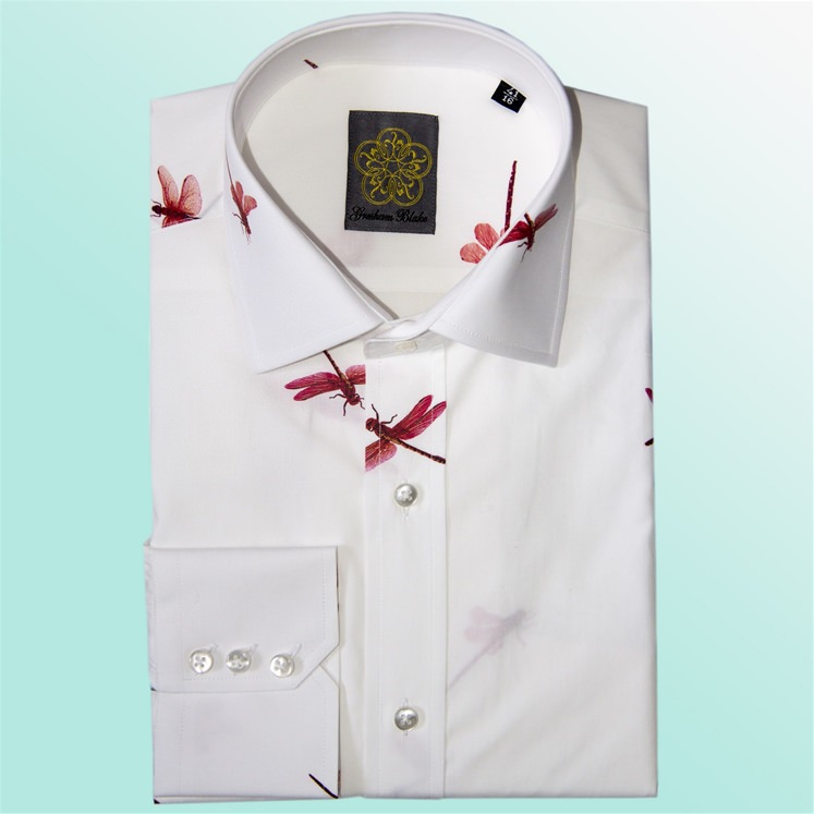 Pink Summer Dragonfly Shirt
