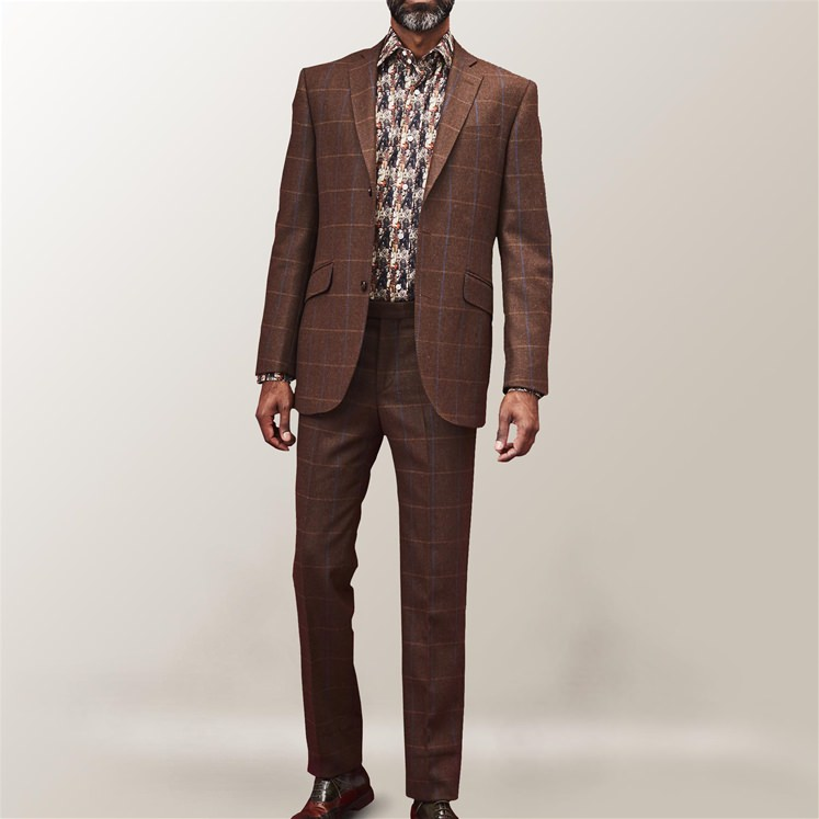 Brown Check Denver 2 Piece Suit