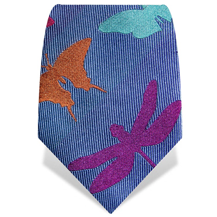 Blue Large Insects Tie