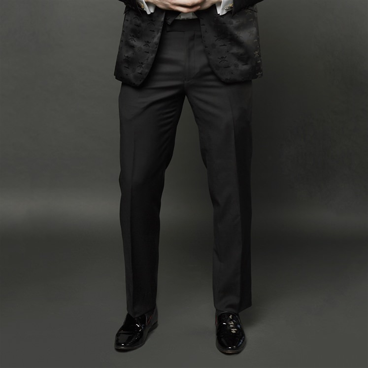 Black Wool Trouser