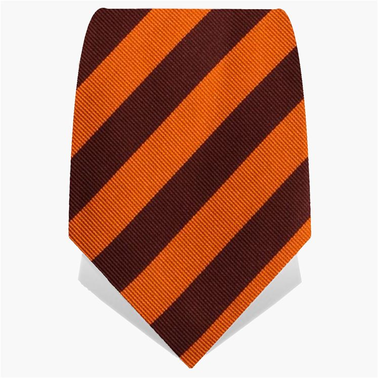 Orange Classic Stripe Tie