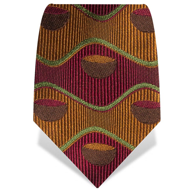 Orange and Red Retro Bowl Tie