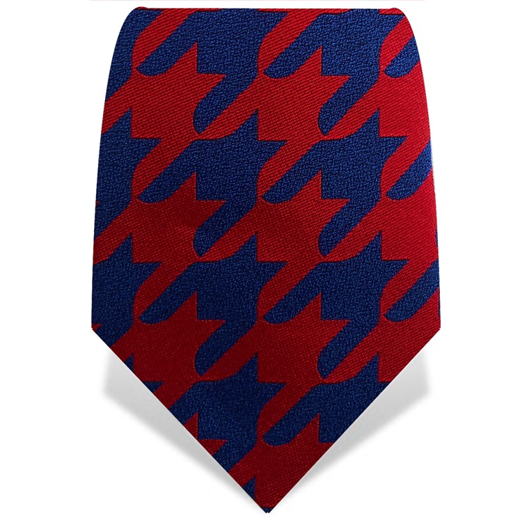 Red & Blue Houndstooth Tie