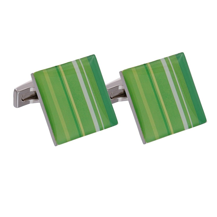 Green Enamel Cufflinks