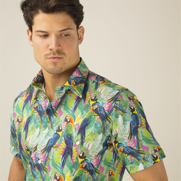 Short Sleeved Parrots Shirt