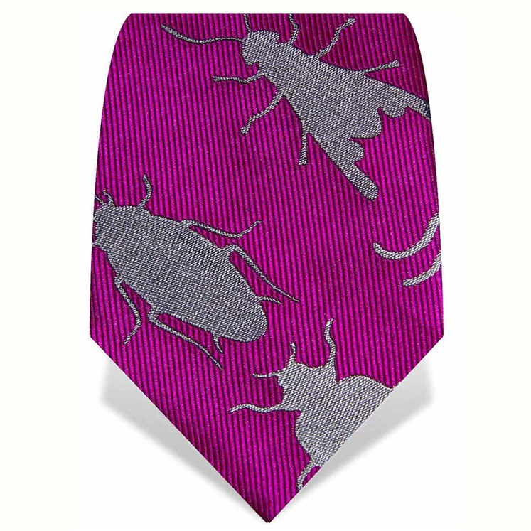 Fuchsia Large Insects Tie