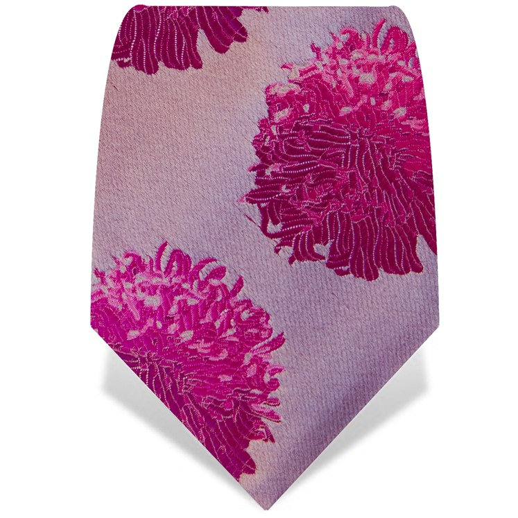 Pink Abstract Flower Tie