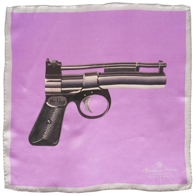 Pink Gun Pocket Square