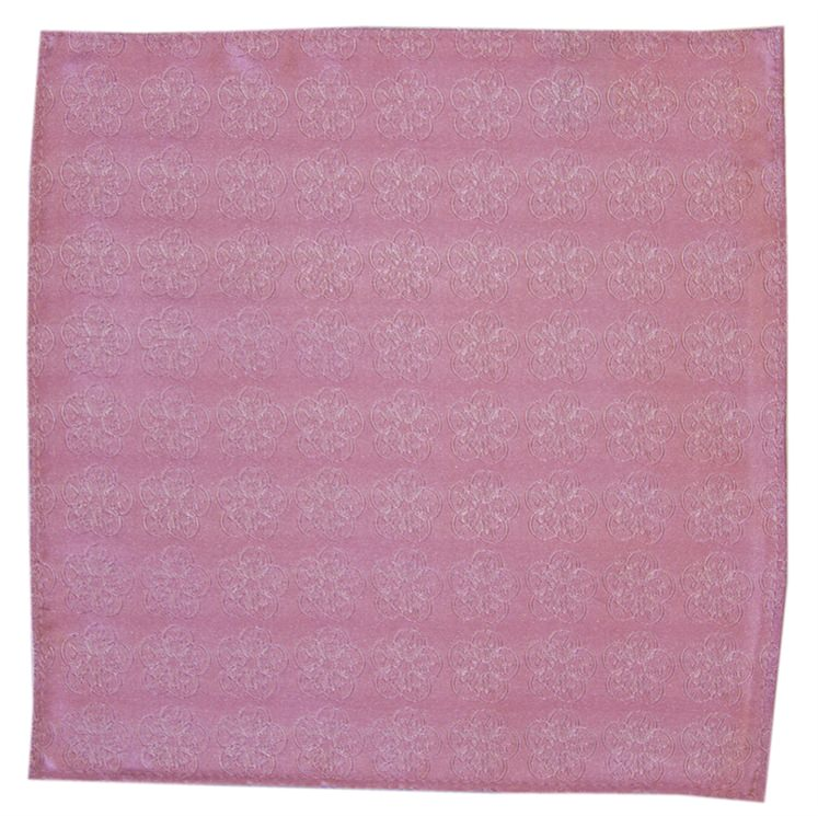 Baby Pink GB Logo Pocket Square