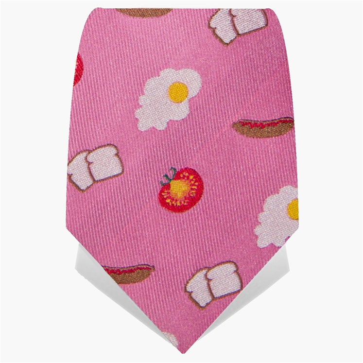 Pink Big Breakfast Tie