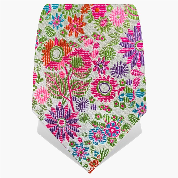 Green & Pink Illuminated Flower Tie