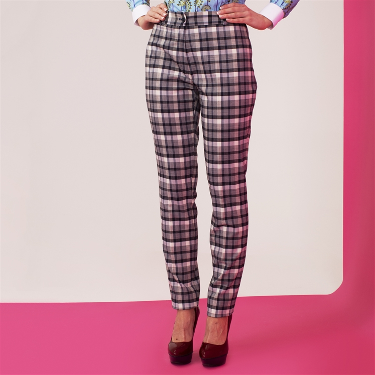 Ladies Gingham Trouser