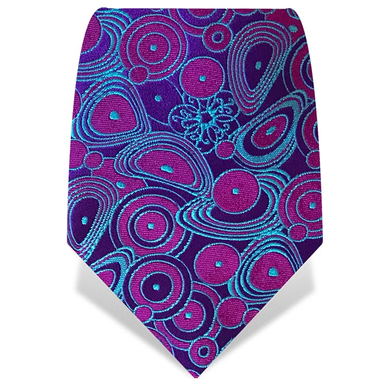 Purple & Blue Circles Tie