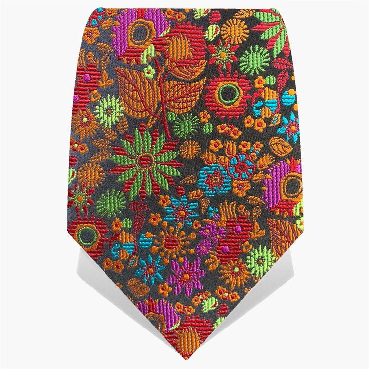 Black & Red Illuminated Flower Tie
