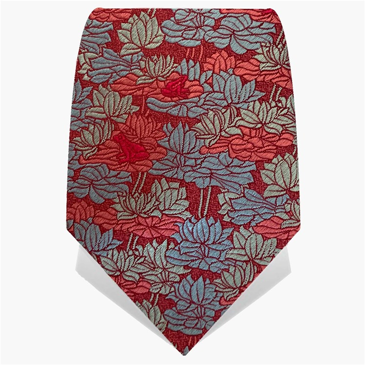 Red & Baby Blue Lily Pad Tie