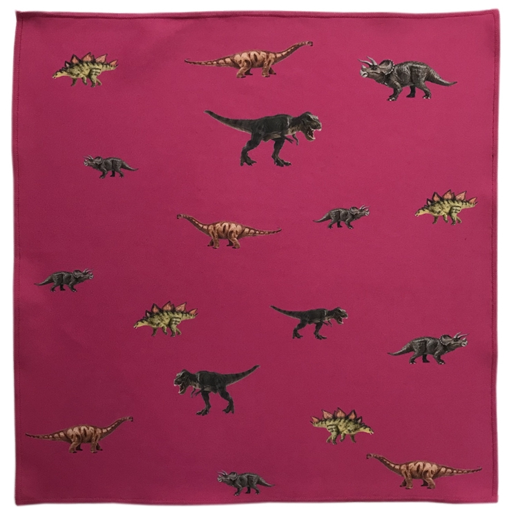 Jurassic Microfiber Pocket Square